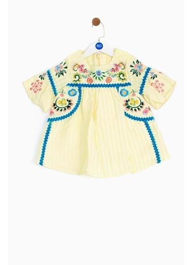 BG Baby Kız Bebek Sarı Elbise 19SS1BG2915 Sarı